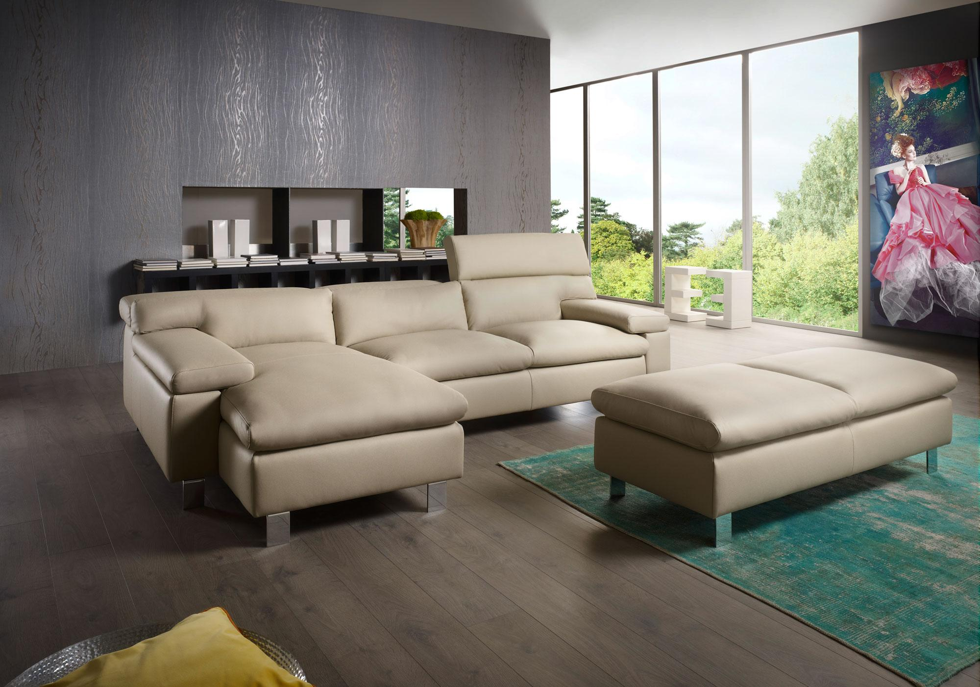 Ledersofa modern for Urban sofa deutschland