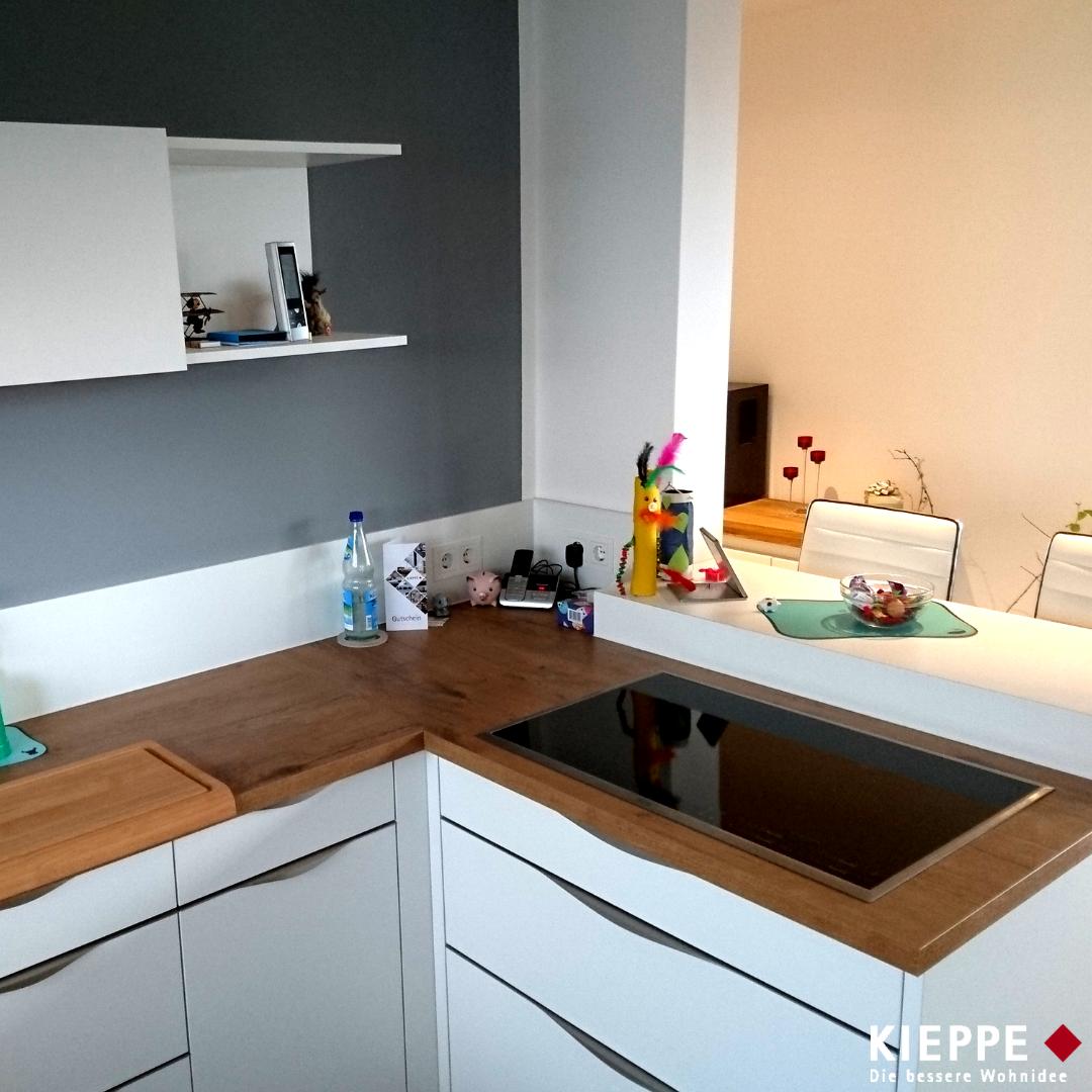 Küche in Weiß und Holz (Jena, 2016) | KIEPPE