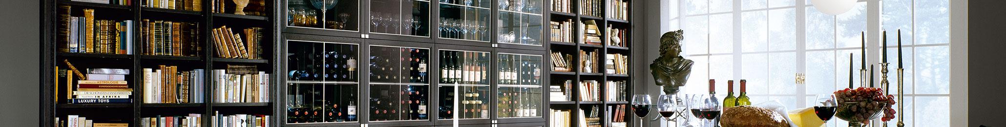 Bibliothem als Weinschrank-Sonderlösung