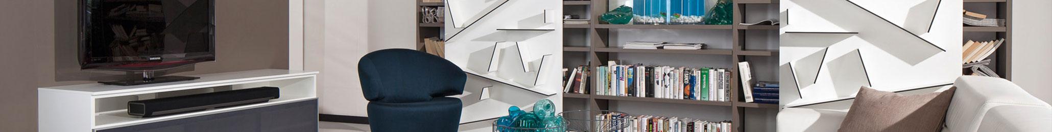Paschen Bibliothek - Wohnwand Sofa und Couchtisch