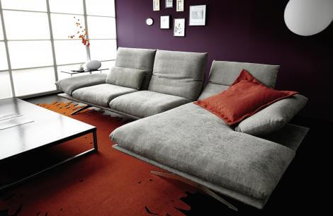 KOINOR - Francis - modernes Stoffsofa, Metallkufe, Sofa , Modern, Arnstadt, Erfurt. Sofa kaufen, Poslstergarnitur Erfurt