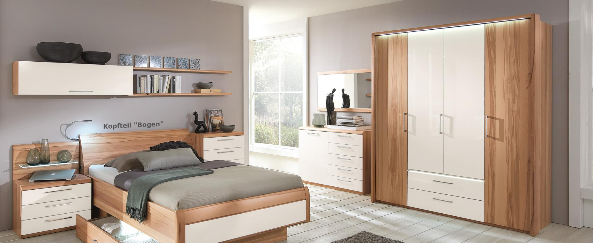 Schön Kleiderschrank Mit Innenausstattung Beste Wahl Passend Zu Bett Und Schlafzimmereinrichtung