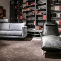 Koinor Sofa 2 sitzig, Bücherregal mit Schieberegalen, Sofa Arnstadt, Liege Arnstadt