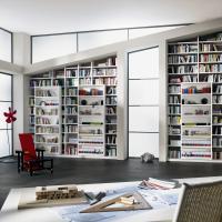 Anspruchsvolle Bibliotheken nach Maß in den verschiedensten Stilrichtungen, allen Maßen und top geplant - Einbauschränke bei Kieppe in Dachschräge