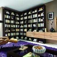 Anspruchsvolle Bibliotheken nach Maß in den verschiedensten Stilrichtungen, allen Maßen und top geplant - Einbauschränke bei Kieppe als Eckvariante mit Hängesideboard