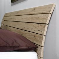 Kopfteil für Bett in Eiche anthrazit