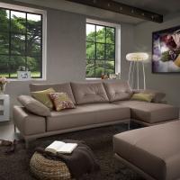braunes Ledersofa modern - E.Schi - Polstermöbel - Sofa kaufen