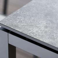 Aluminium oder Edelstahl - mit Stoffbespannung oder ohne - wertige Tischgruppen für den Garten
