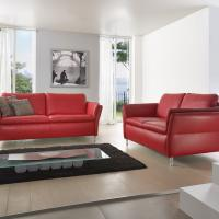 Ledersofa modern als zwei Zweier - Möbelhaus Arnstadt
