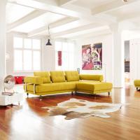 gelbe Stoffgarnitur -  Ledersofa modern - E.Schi - Polstermöbel - Sofa kaufen