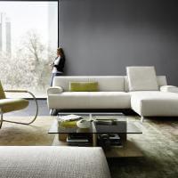 Sessel Freischwing Leder Farbe Pistazie Grün Chrom Koinor Relaxen Entspannen Ausruhen Abschalten Wohnen Sitzen Sitzmöbel Couch Sofa Edel Funktional Bequem