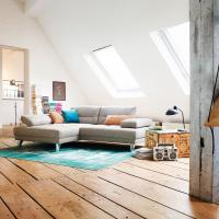 beiges Ledersofa modern - E.Schi - Polstermöbel - Sofa kaufen