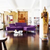 Viotlettes Ledersofa modern - E.Schi - Polstermöbel - Sofa kaufen