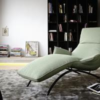 Liege Couch Sessel Grün Farbe Blass Mint Koinor Sofa Joleen Metall Gestell Material Lack Schwarz Bequem Relaxen Lümmeln Ausruhen Schlafen Sitzen Sitzmöbel Möbel Armlehne