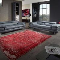 graues Ledersofa modern - E.Schi - Polstermöbel - Sofa kaufen