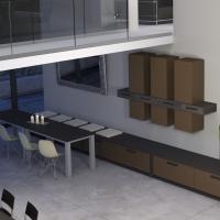 Modernes Ess - oder Speisezimmer mit Vier - Fuß - Stühlen Wohnküche