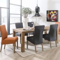 Modernes Ess - oder Speisezimmer mit Vier - Fuß - Stühlen