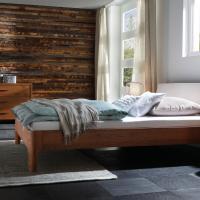 Bett - Lattenrost - Matratze - Kissen - Decke - BSH