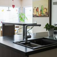 Küche Arbeitsplatte Stein Marmor Granit Spüle Silgranit Anthrazit Blanco Modular Wasserhahn Theke Küche Kaffeemaschine