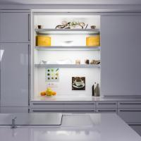 Moderne Küche aus Thüringen umgesetzt bei Kunen - Hochglanz Lackfront mit Bora Downdraft