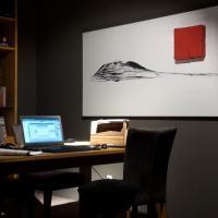 Tisch und Stühle, Kernbuche Regal, Wohnzimmer rustikal