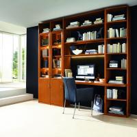 Anspruchsvolle Bibliotheken nach Maß in den verschiedensten Stilrichtungen, allen Maßen und top geplant - Einbauschränke bei Kieppe als moderne Bibliothek mit Schreibtischplatte