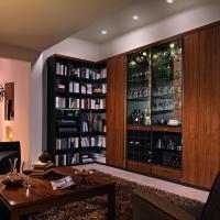 Anspruchsvolle Bibliotheken nach Maß in den verschiedensten Stilrichtungen, allen Maßen und top geplant - Einbauschränke bei Kieppe als moderne Bibliothek mit beleuteten Vitrinenelementen