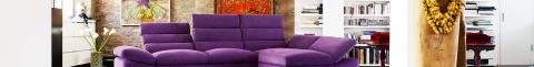 Polstersofa in Violett