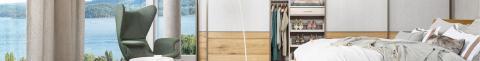 Einbauschränke nach Maß von Cabinet - gteilete Front in Echt Beton und Bambus