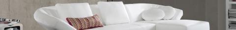 modernes weißes Ledersofa mit Sitztiefenverstellung